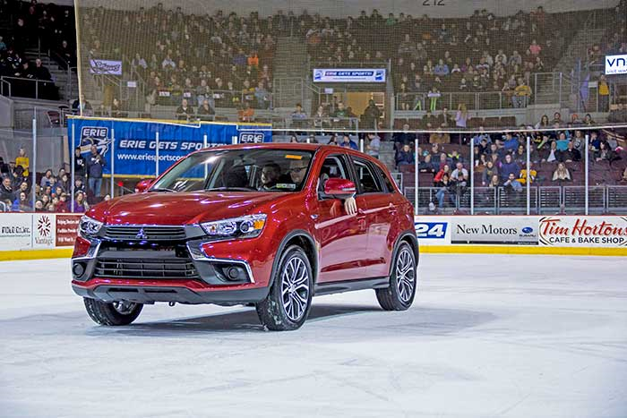 Interstate Mitsubishi in Erie PA is a proud sponsor for the OHL Erie Otters hockey team