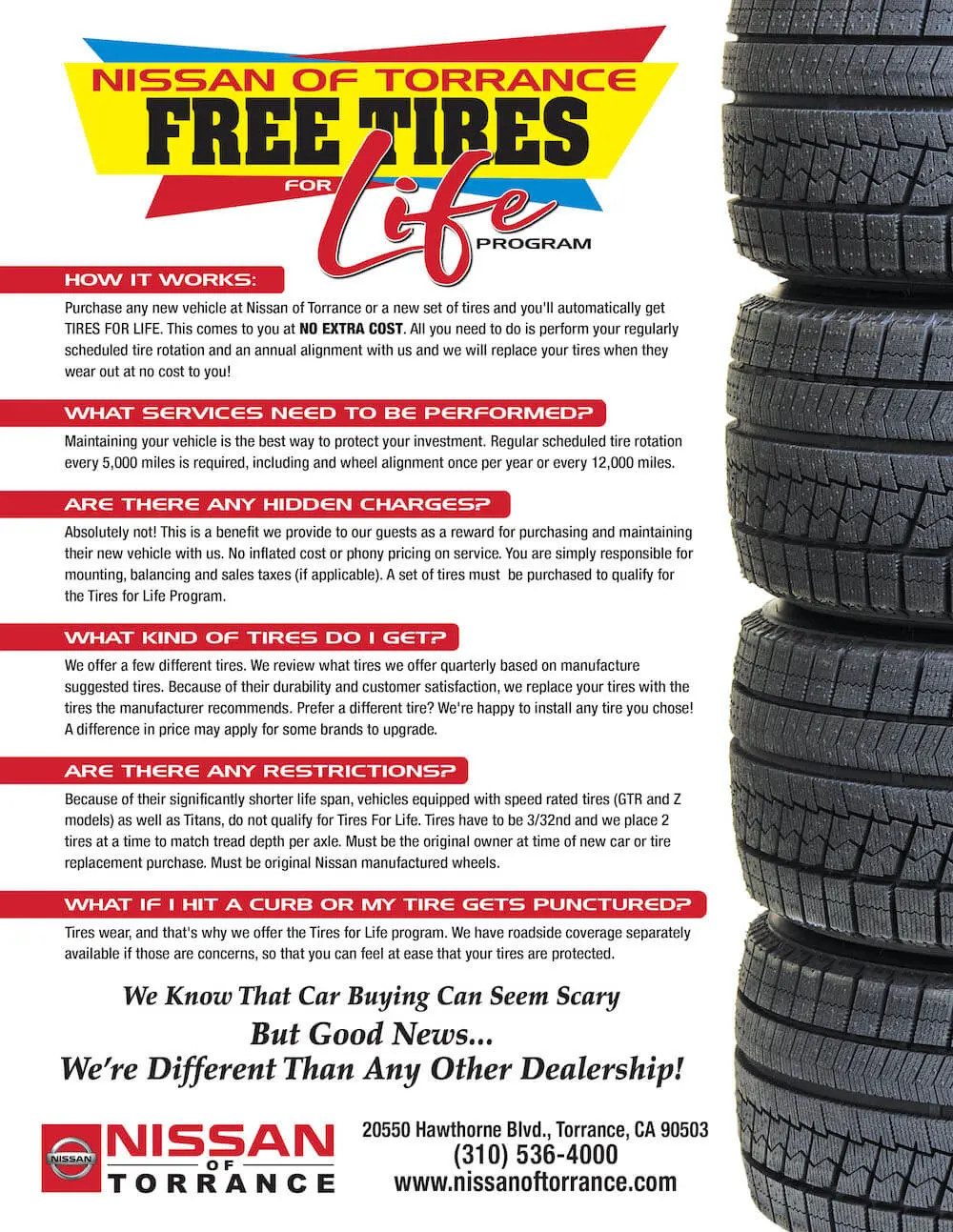nissan of torrance tires for life