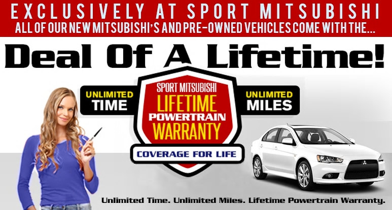 sport mitsubishi lifetime warranty