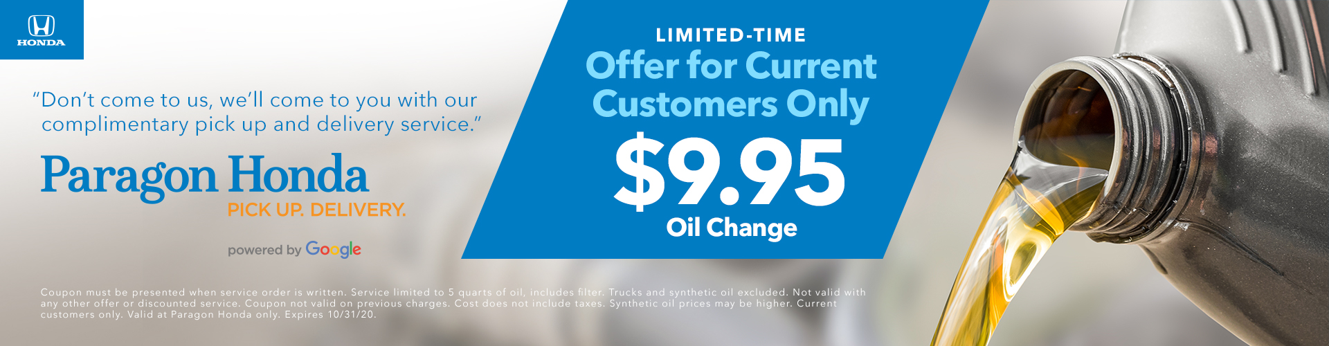 Exclusive Oil Change Offer