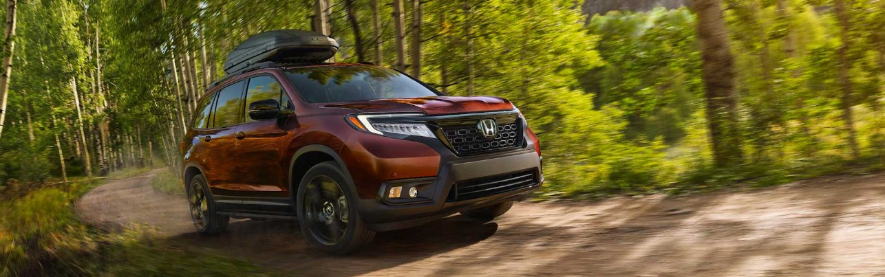 2021 Honda Passport in the woods