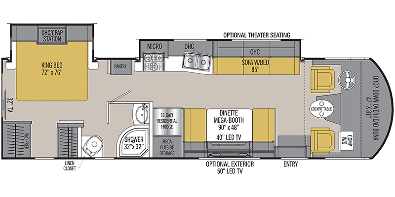 2019_coachmen_pursuit floorplan