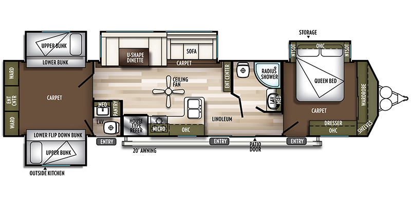 2019_forest_river_salem_villa_classic floorplan
