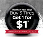 Buy 3 Tires Get 1 For